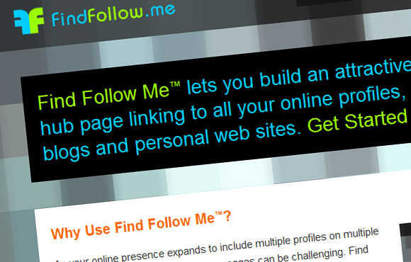 Find Follow Me Web Site Screenshot