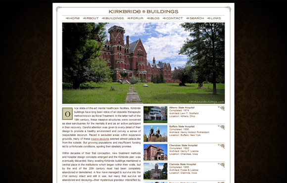 Kirkbride Buildings Web Site Screenshot
