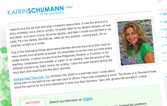 Katrin Schumann's Web Site Screenshot