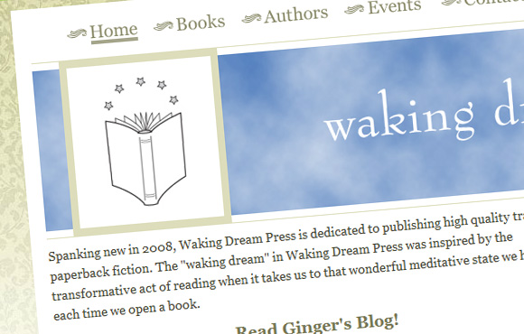 Waking Dream Press Web Site Screenshot